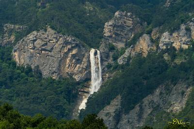 Бушующий Учан-Су водопад Учан-Су природа Крым пейзаж лето 2021