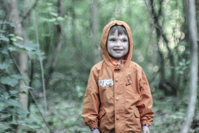 Лесной сын лес портрет зелень