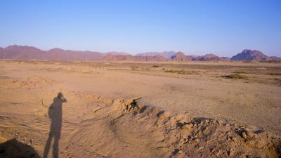 Египет, утро, пустыня ... Египет пустыня горы утро рассвет небо