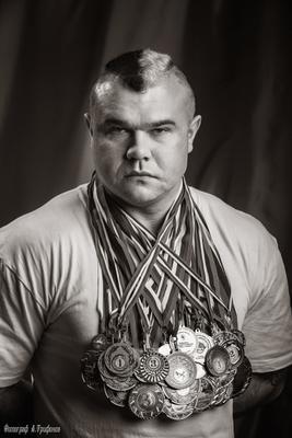 *** Жанр Жанровый портрет Портрет с медалями Спорт Награды Фотограф Алексей Трифонов