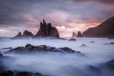 Сочные нотки рассвета Испания Бенихо рассвет океан выдержка скалы горы облака пляж берег