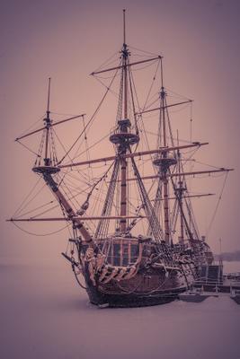 Гото Предестинация Гото Предестинация парусник зима корабль