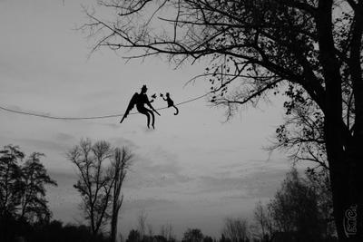 Осенние листики Ангел и кот, Тоня Кэт