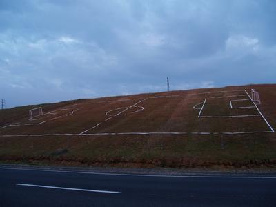 Евро 2012 поле на склоне футбол
