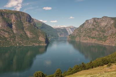 Норвегия Норвегия фьорд пейзаж панорама море