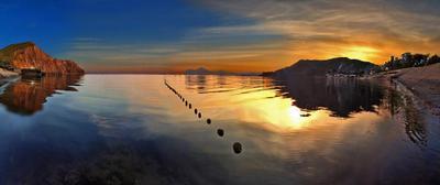 Тишина и покой Киммерии Крым море горы Киммерия Тишина покой закат