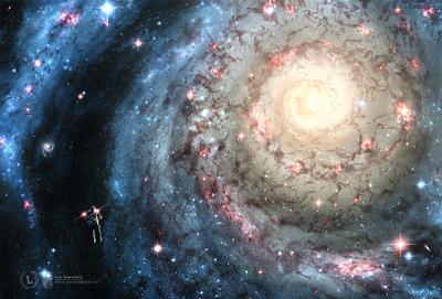 Blizzard | Метель blizzard galaxy space star spaceman astronaut colors swirl метель галактика спираль космос звезда космонавт цвета