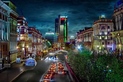 Город красками сияет!... беларусь город мир вечер фотосфера-минск