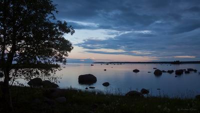 Рихиниеми Финский залив вечер камни закат Рихиниеми