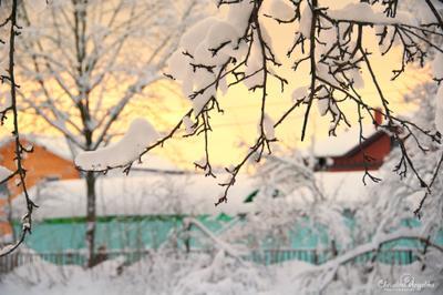 Морозный вечер Королёв зима вечер снег