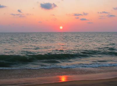 Вечер на Шри-ланке индийский океан, вечер на море