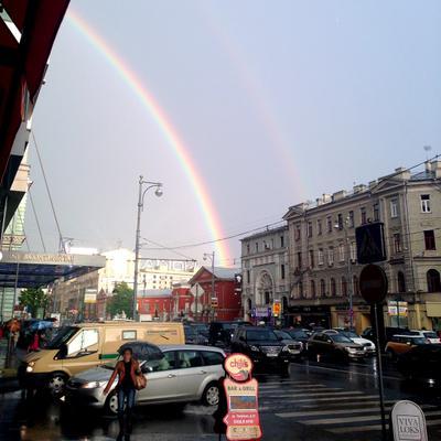 лето... тверская лето тверская радуга москва город дождь