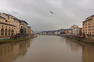 Флоренция, пасмурно Флоренция Италия пасмурно весна дождь