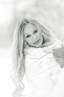 *** девушка зима снег