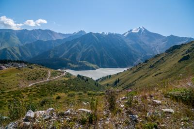 Далекий отчий край Казахстан Алатау горы озеро mountains lake Kazakhstan Alatay