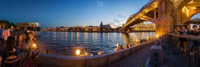 Парк Горького россия москва мост парк горького закат небо панорама