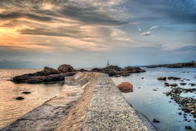 Old lighthouse Болгария пейзаж море восход