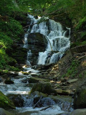 водопад Шипот Карпаты водопад Шипот