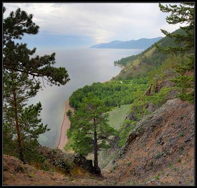 Вид на Байкал со Скрипера байкал утес скрипер озеро горы