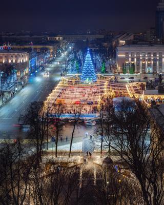 Новогодний Воронеж воронеж новый год 2021 январь азимут отель azimut hotel