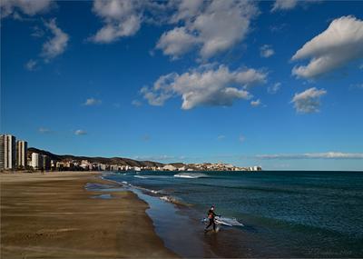 Обогнать ветер пейзаж небо облака море город