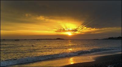 Средиземное море. Закат... Турция Средиземное море мобильное фото закат