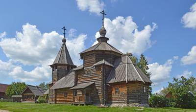 Церковь Преображения из села Козлятьево.1756 Суздаль лето церковь религия