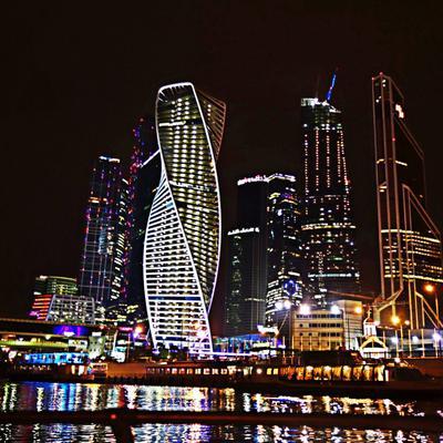 Сити Москва Москва-сити Москва-река ночь город