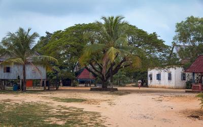 Камбоджа.Деревенская площадь Камбоджа