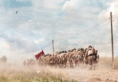 Дорога на небо... Поле война отряд дорога пыль столбы небо