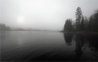 Утро рыбацкое. Васкна, туман