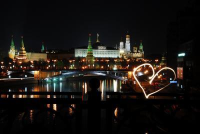 Я люблю Москву ночью... москва, ночь, кремль, светопись
