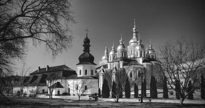 Михайловский собор... Киев, Михайловский собор, весна, купола