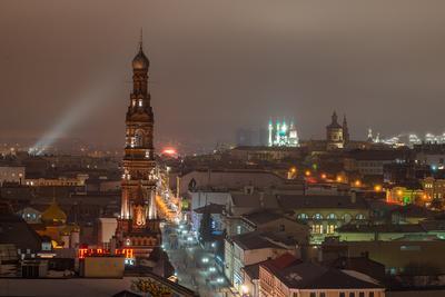 Казань ночная... город Казань ночь