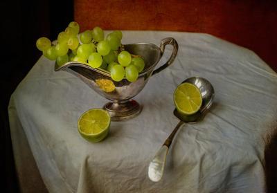 виноград и лайм