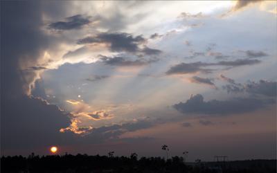 Утро Утро расвет небо  солнце