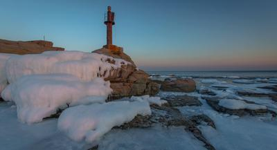 lighthouse город туман рассвет мост утро Владивосток Приморье