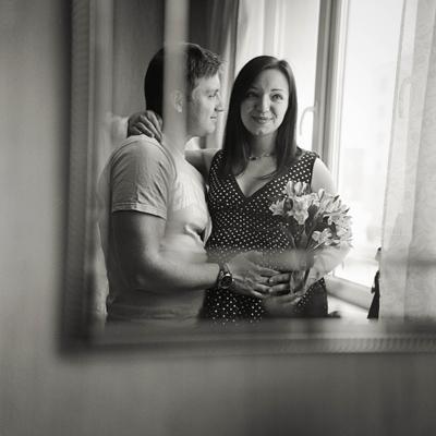 Ожидание.Вместе. нежность любовь беременность зеркало отражение чувства