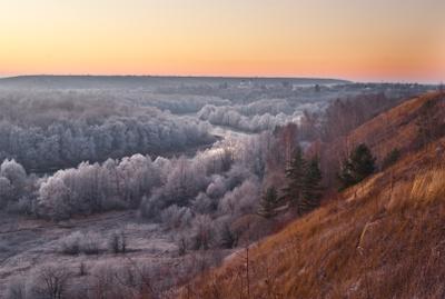 Подступает.. декабрь рассвет Река Воронеж изморозь Церковь Архангела Михаила