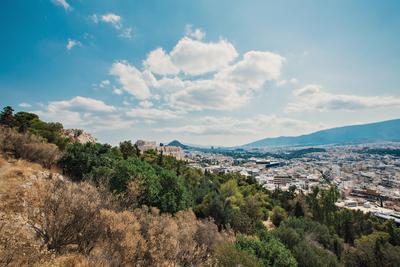 Вид на Парфенон Парфенон, Акрополь