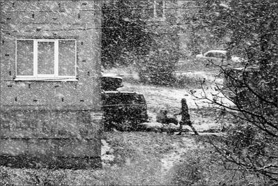 Шёл медленный трассирующий снег... снегопад