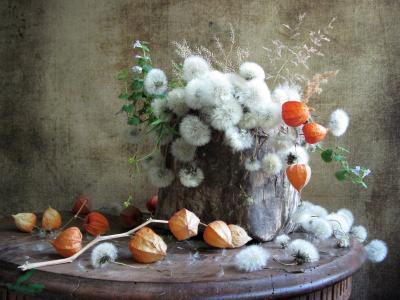 День летнего солнцестояния цветы букет одуванчики физалис короб туес пестель винтаж наталия тихомирова celesta