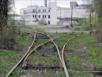 На распутье Кушелевка железная_дорога путь рельсы стрелка