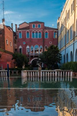 Слегка затопило Venice acqua alta Венеция прилив