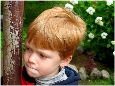 Когда я вырасту и стану великаном... рыжий мальчик