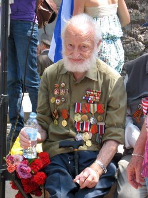 Ветеран. Парад Победы в Израиле. ветеран, парад, Израиль