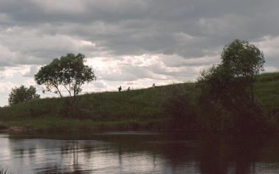 гроза приближается Волга