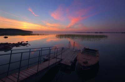 Сямозеро Карелия лето закат озеро