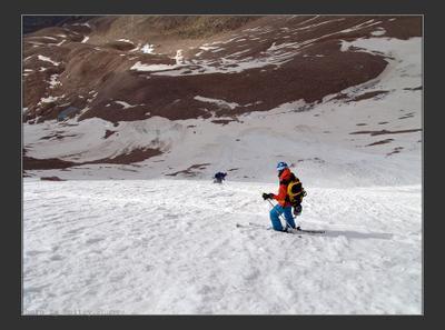 По лавинам Горы Тянь-Шань фрирайд лавины снег лето
