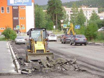 *** Новоуральск юбилейная ремонт дорога погрузчик